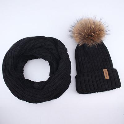 FURTALK para mujer invierno punto pompón sombrero y bufanda conjunto  gorrita sombreros cuello cálido círculo bufanda 095f0406ac11