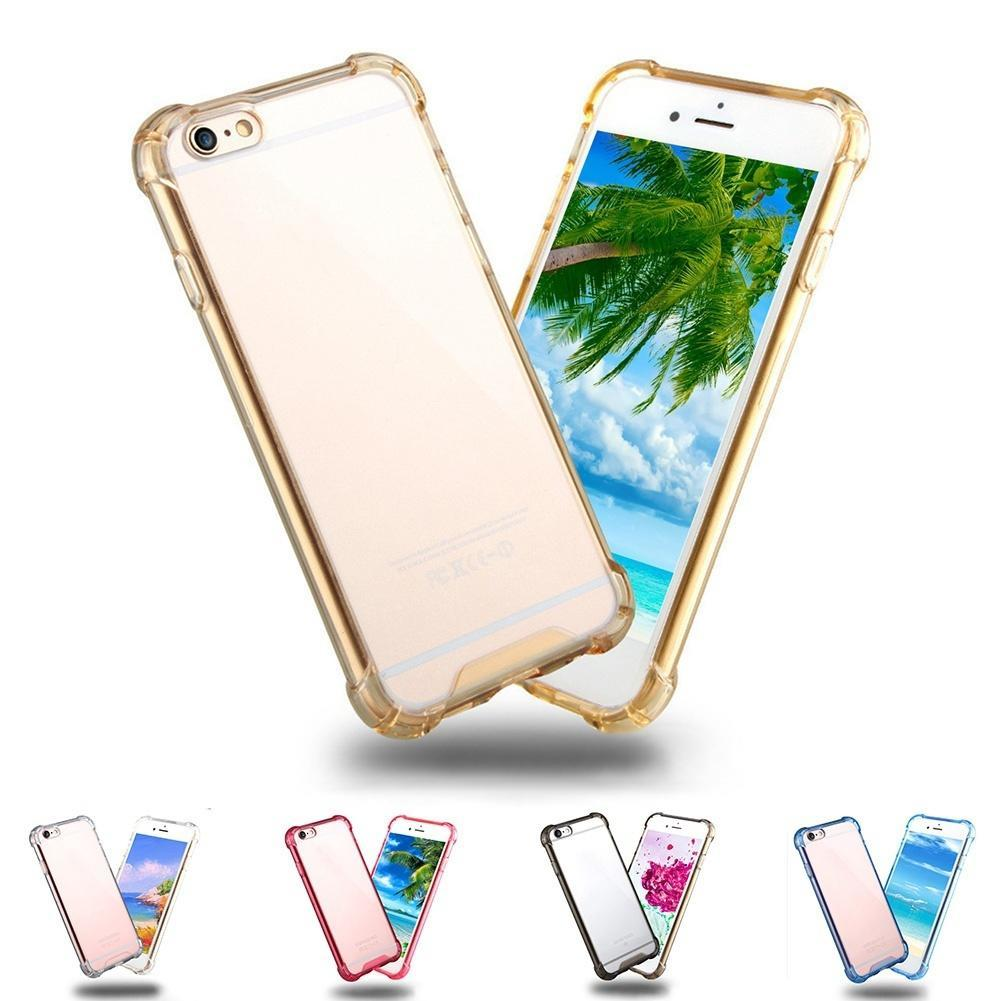Hybrid Shockproof Tpu Clear Back Cover Case For Apple Iphone 6 6s Goospery 7 Soft Feeling Jelly With Hole Black 1 Of 11