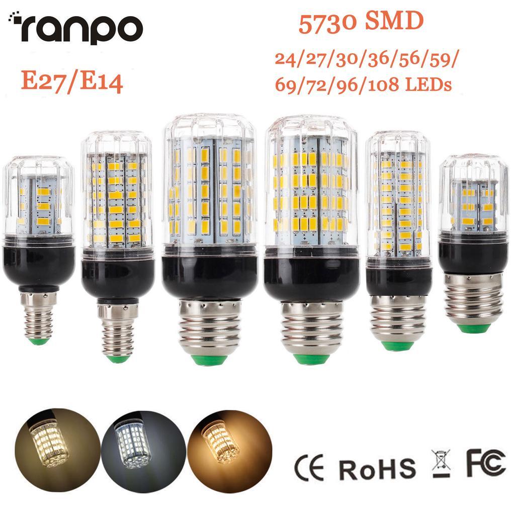 E27 LED Corn Bulb Lamp Light Energy Saving Spotlight 5730SMD 7W-50W 220v 110v