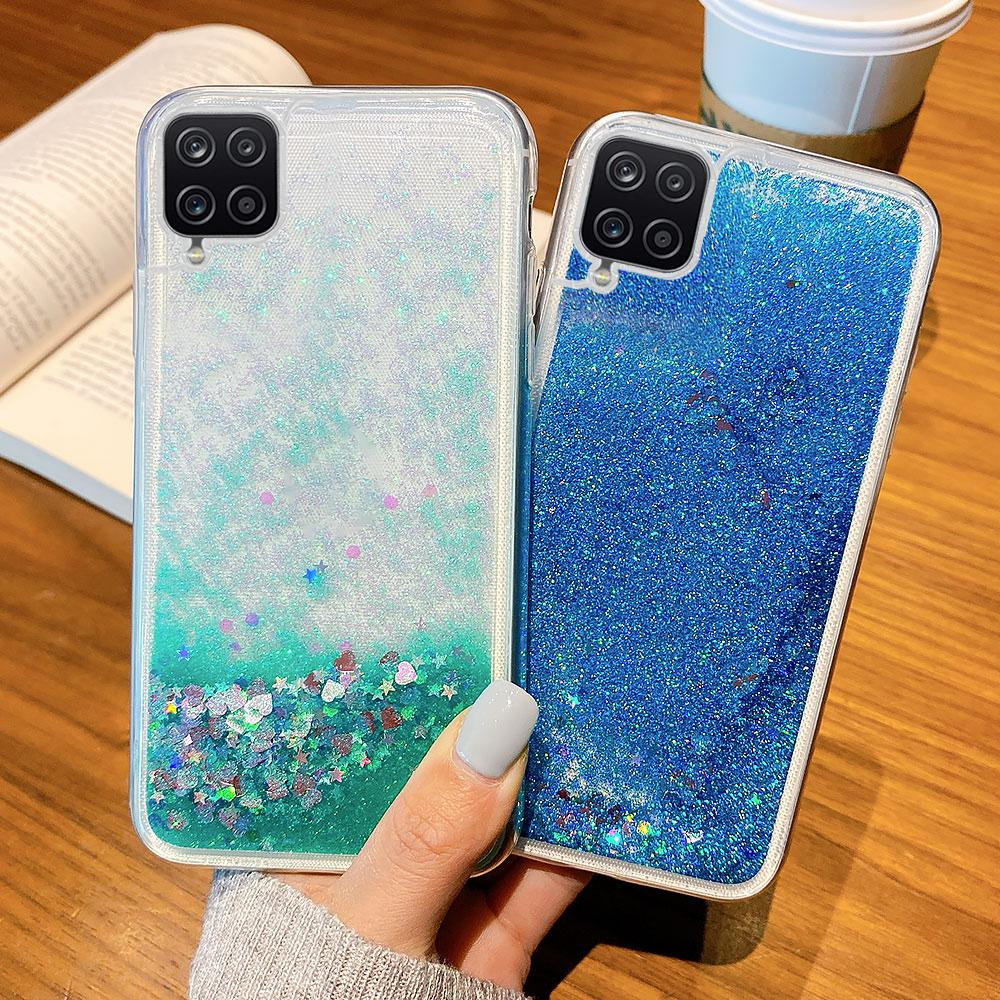 AKABEILA Case For Huawei Case Silicone Cover Glitter Liquid Protector for Huawei Shell