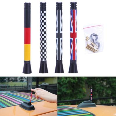 Union Jack UK Flag Short Antenna For MINI Cooper S R55 R56 R60 Countryman