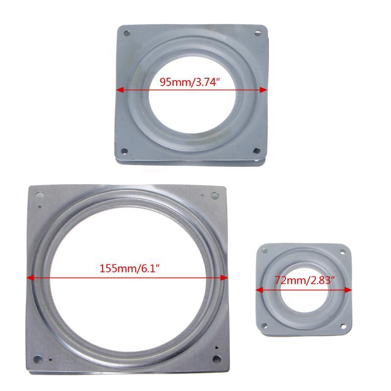 "1PC Heavy Duty LAZY SUSAN BEARING 3/"" 4/"" 6/"" Swivel Turntable Bearing Square"