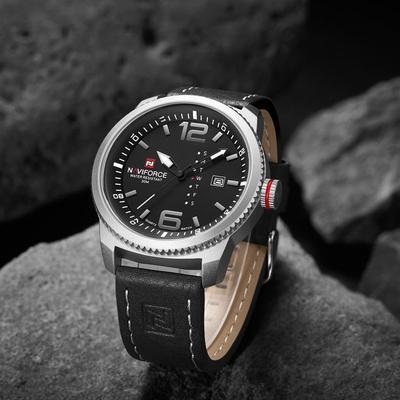 9063 Men's Watches Luxury Brand Military Sport Calendar Waterproof Fashion Casual Leather Band Quartz Wristwatch