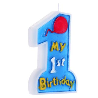 Birthday Cake Candle My 1st Kids First One Anniversary Party Decor