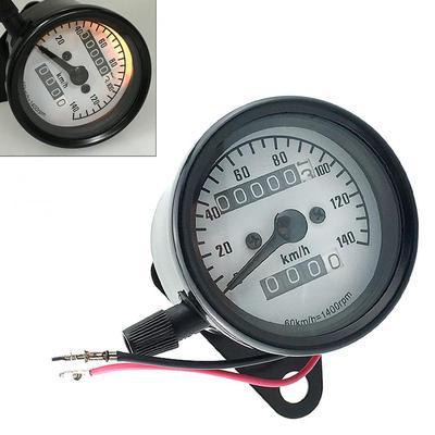 perfk Universal Motorcycle Waterproof Temperature Gauge /& Clock Time Gauge Black