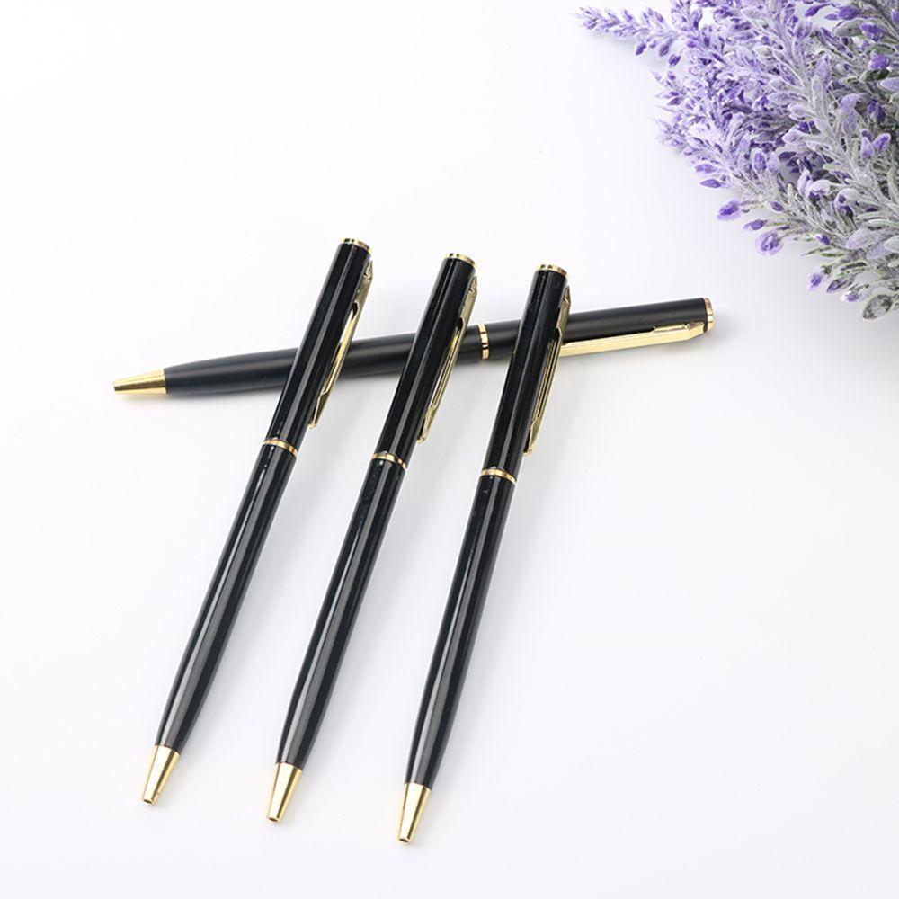 Stainless Steel Fine Rod Rotating Metal Ballpoint Pen Biro Ball Blue//Black Ink