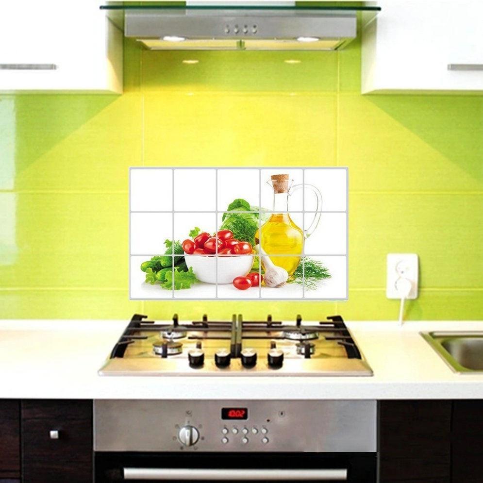 Wasserdichte Anti –l Fleck Lecythus Küche Dekoration Aufkleber Fliesen Wandtattoo Farbe Multicolor