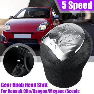 5 Speed Gear Knob Shift Stick For Renault Megane II Kangoo Twingo Laguna Scenic