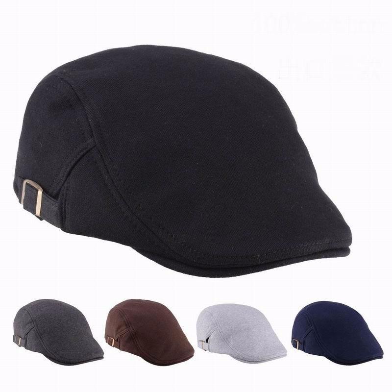 Beret Hats Men Patchwork Unisex Cap Classic European Style Autumn Winter Casquette Homme Casual Outdoor Visor Hat Ajustable