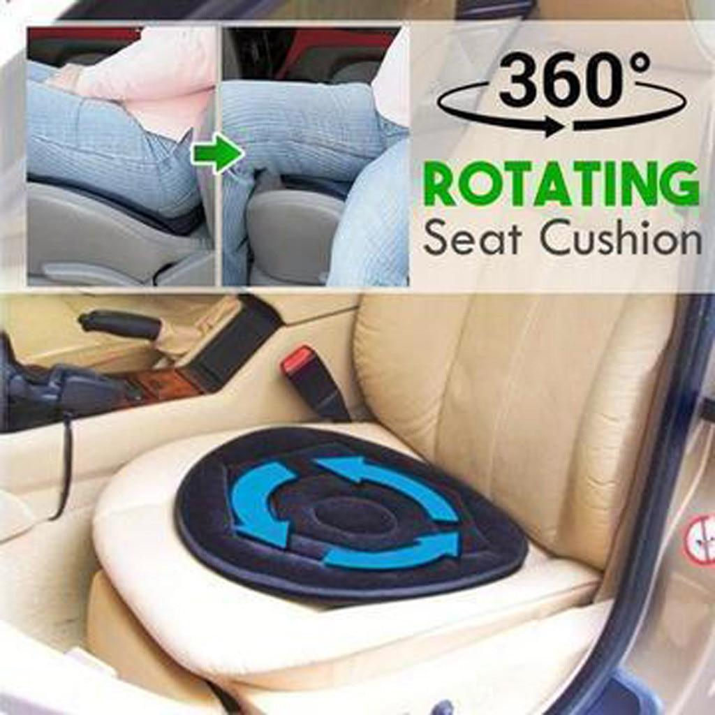 Portable 360 Degree Rotating Cushion Car Seat Pads Soft Swivel Chair Pads
