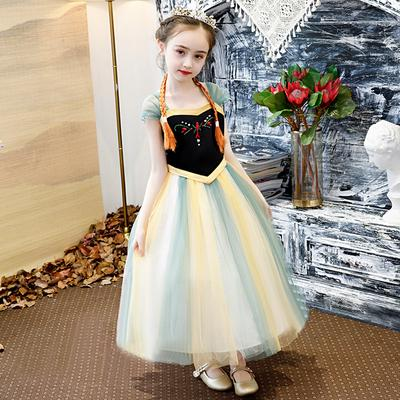 Spanish Kid Girls Floral Print Dress Christmas Party Pageant Long sleeve Outfits