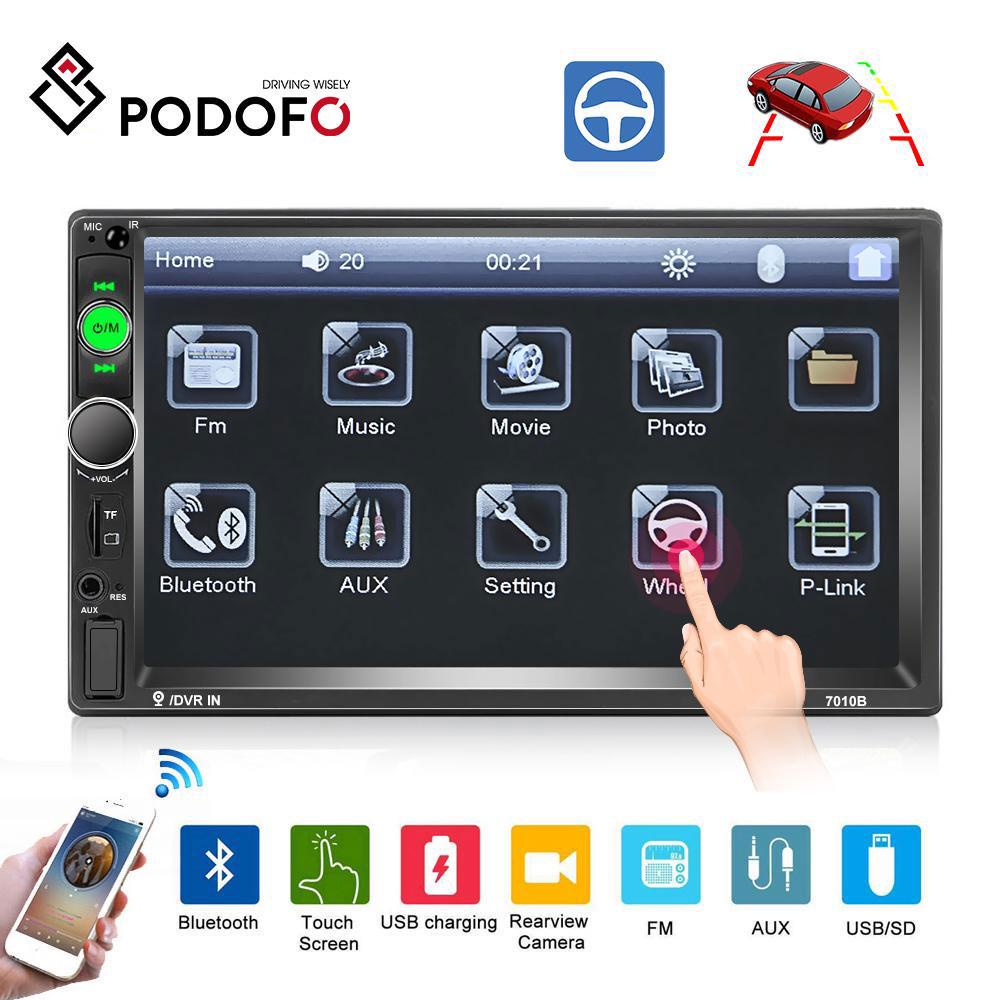 Multifunction 7 Inch Double Din D-Play Car Stereo Radio Receiver HD Touchscreen Bluetooth FM Radio for car Digital MP5 Player