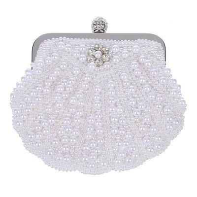 62d9df92b Elegante bolso Clutch perla bolso fiesta conchas bolsa nupcial ...