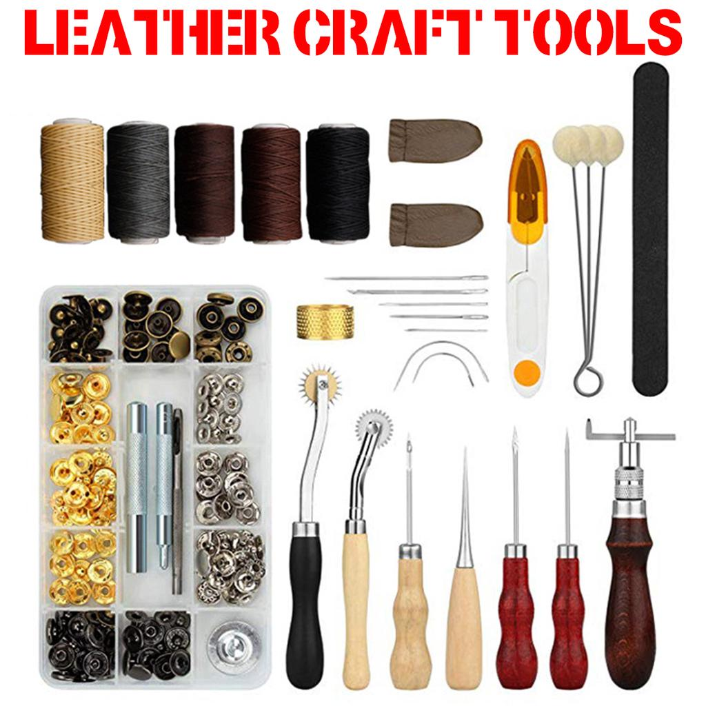 Leathercraft Hand Made Tool Sewing Set Groover Beveler Punch Cutter Leather Tools