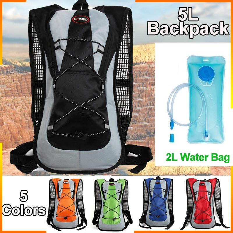 WRF Bicycle Backpack 5L Waterproof Bicycle Backpack Breathable Lightweight Running Backpack Suitable for Fitness Running Climbing Camping Ski Bike Hiking