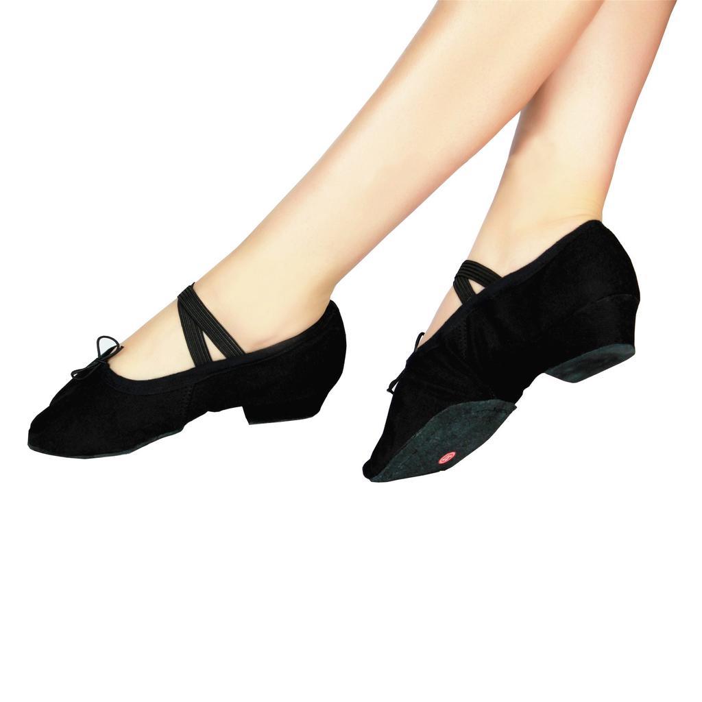Split Sole Jazz Shoes Rumba Latin Dance Shoes Leather Flats Adult Dancewear Soft Sole Dancing Shoes for Men Women