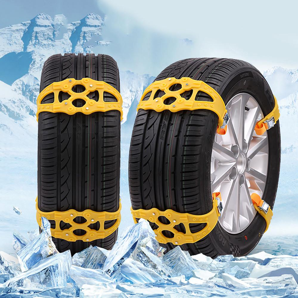 4Pcs Easy Installation Simple Winter Truck Car Snow Chain Tire Anti-skid Belt