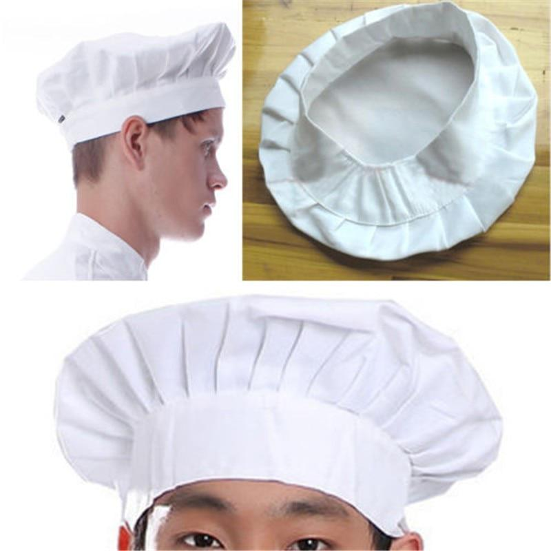 Adult Tall White Chefs Baker Cook Chef CLOTH Hat Fancy Dress Costume Accessory