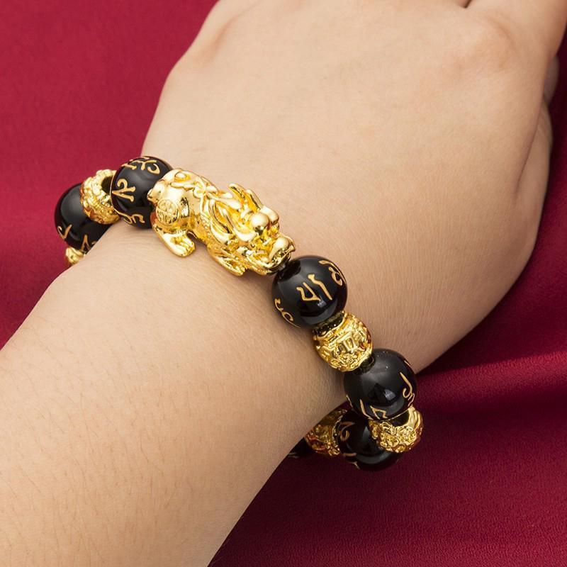 Feng Shui Black Obsidian Alloy Wealth Bracelet Original - buy from 3$ on  Joom e-commerce platform