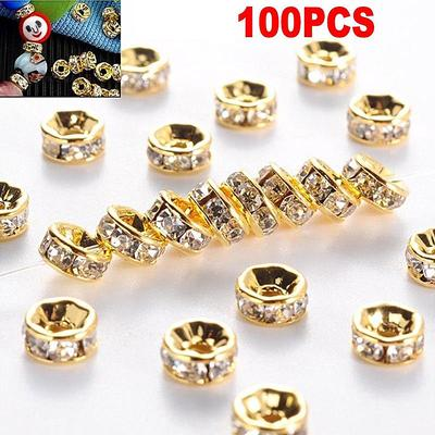 10//20Pcs Tibetan Silver Loose Ball Charm Spacer Beads Jewelry Making DIY 8mm
