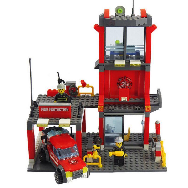 KAZI   Fire Station Blocks 300pcs Bricks Building Enlighten Educational DIY toys