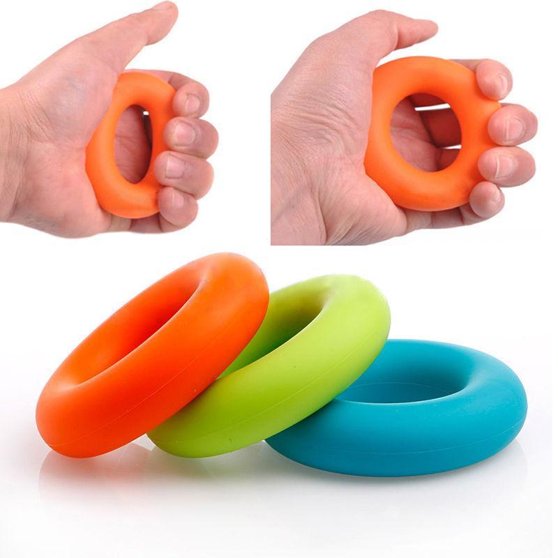 Rubber Hand Grip Forearm Finger Strengthener Muscle Power Training Exercise Ring