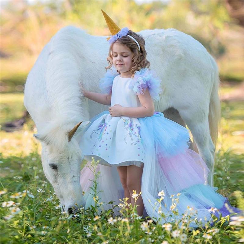Princess style baby dress modern baptism dress flower girl dress fairy tale dress toddler princess style gown