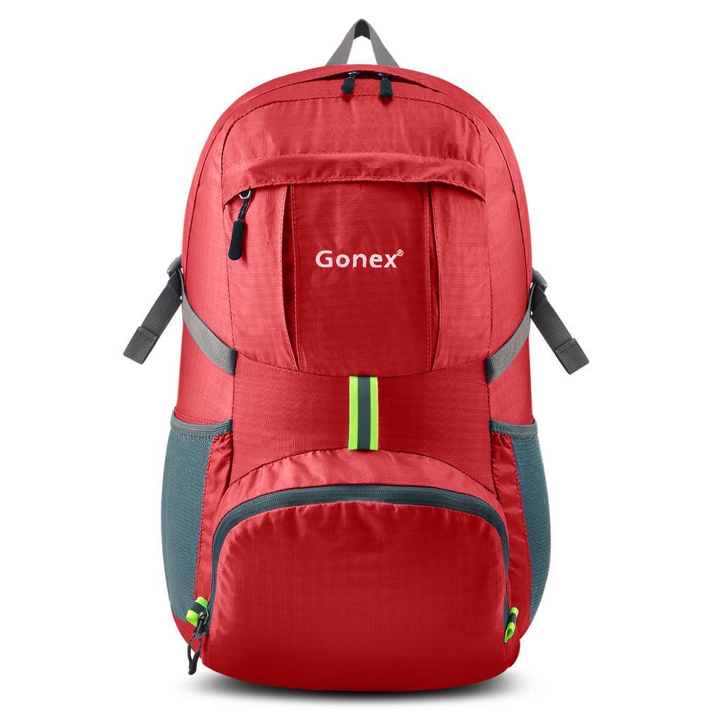 Gonex foldable backpack sport bag 35l bag waterproof men women camping