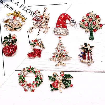 Handcraft Gift Santa Claus Christmas Tree Pattern Small Bell