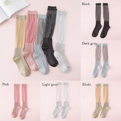 Women Autumn winter knitted thickened shining socks thermal long harajuku  boot 6623621d2c13