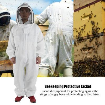 Breathable Bee Anti-Bee Full Body Suit Beekeeping Protect Outdoor Equipment XL
