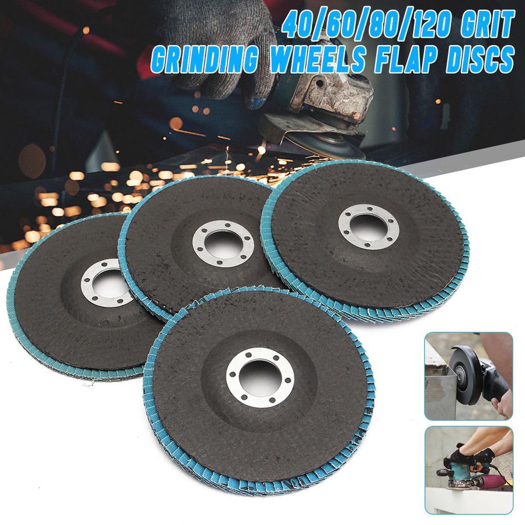 40//60//80//120 Flap Discs 100mm 4/'/'Angle Wheels Grinding Grinder Grit Sanding