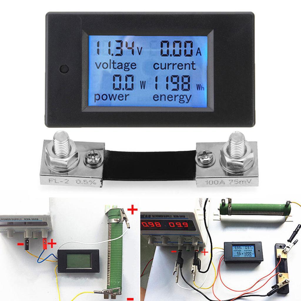 Multifunktions-Dreiphasen-programmierbares elektrisches Leistungsme/ßger/ät Digitales LED-Amperemeter Voltmeter