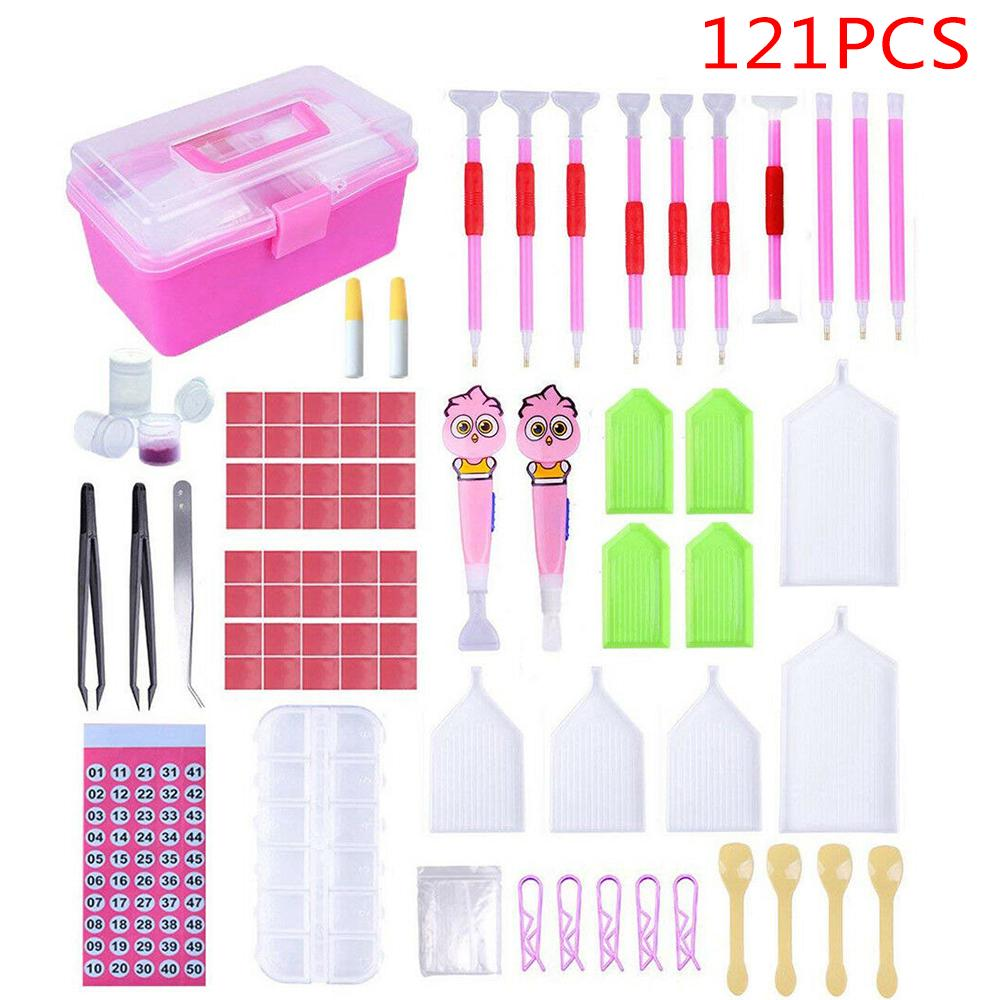 2//4PC 5D Diamond Point Drill Pen Painting Cross Stitch Accessory DIY Embroidery