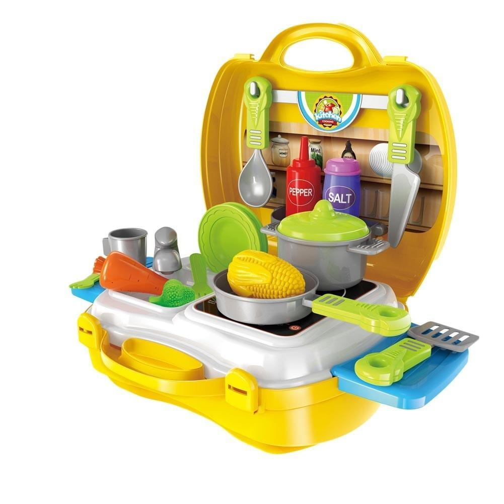children simulation kitchen cooking tableware dressing table