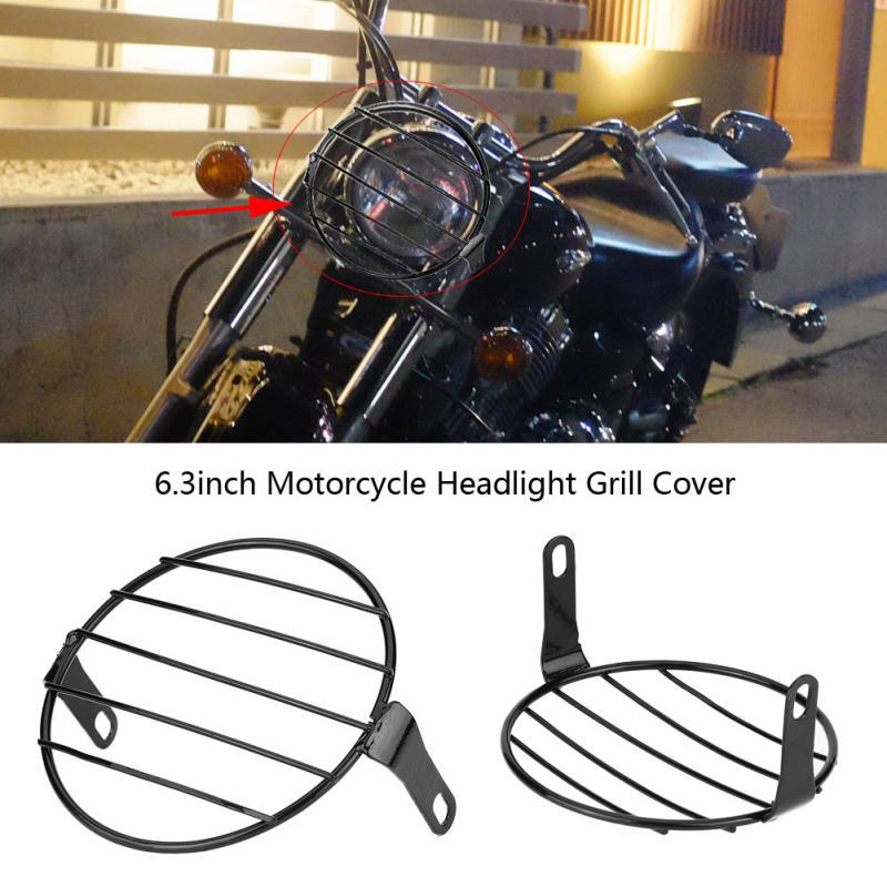 Head Lamp Grill Retro Side Mount Cover Mask for Cafe Racer 6.3 Motorcycle Headlight