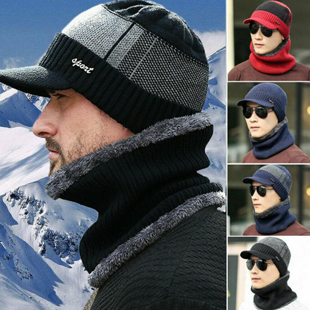 Qdkva Winter Knit Beanie Knitted Hat Fashion Football Cuffed Knit Cap Warm Winter Cozy Hats for Fans