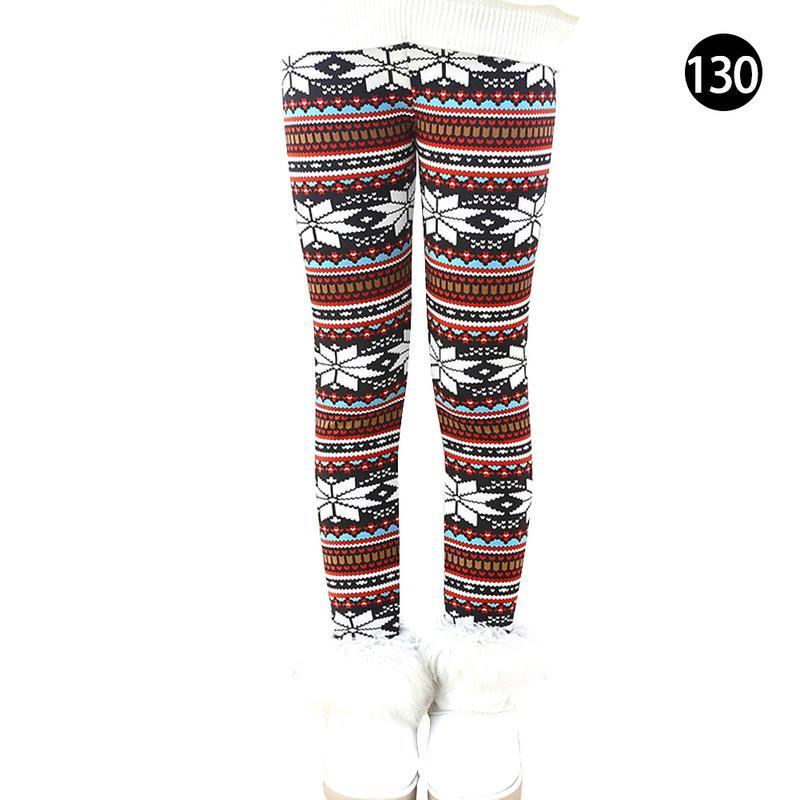 LPATTERN Baby//Toddler Kids Girls Winter Full Length Leggings Fleece Lined Leggings Thermal Leggings Warm Thick Trousers Patterned Stretch Leggings