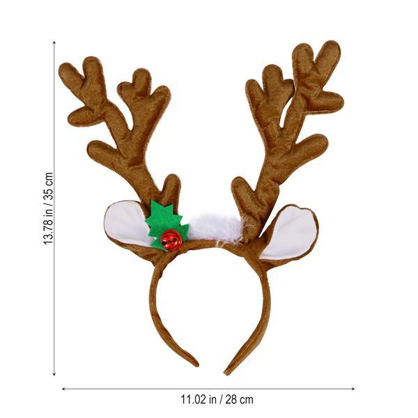 Christmas Hair Headband Adult Kid Reindeer Prop Gift Fairy Dress Up Bopper Decro