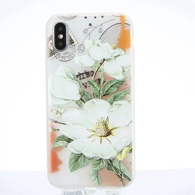 for iphone xsmax xr x 7 8 6s plus beauty flowers phone case for