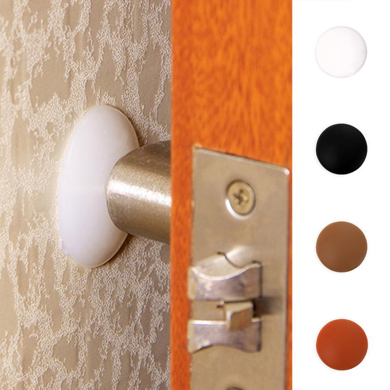 Coffee MOOUS Silicone with Cushion Adhesive Door Handle Wall Anti Collision Mat Noise Stopper