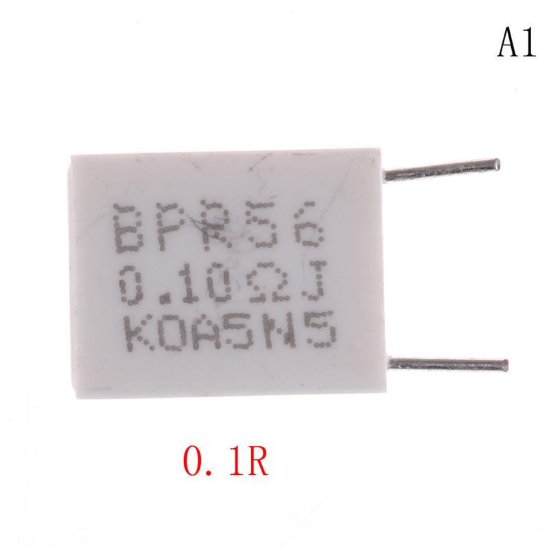 10 un 5 W 5/% 0.1//0.15//0.22//0.5 Ohm Resistencias de cemento no inductiva resistencias BPR56