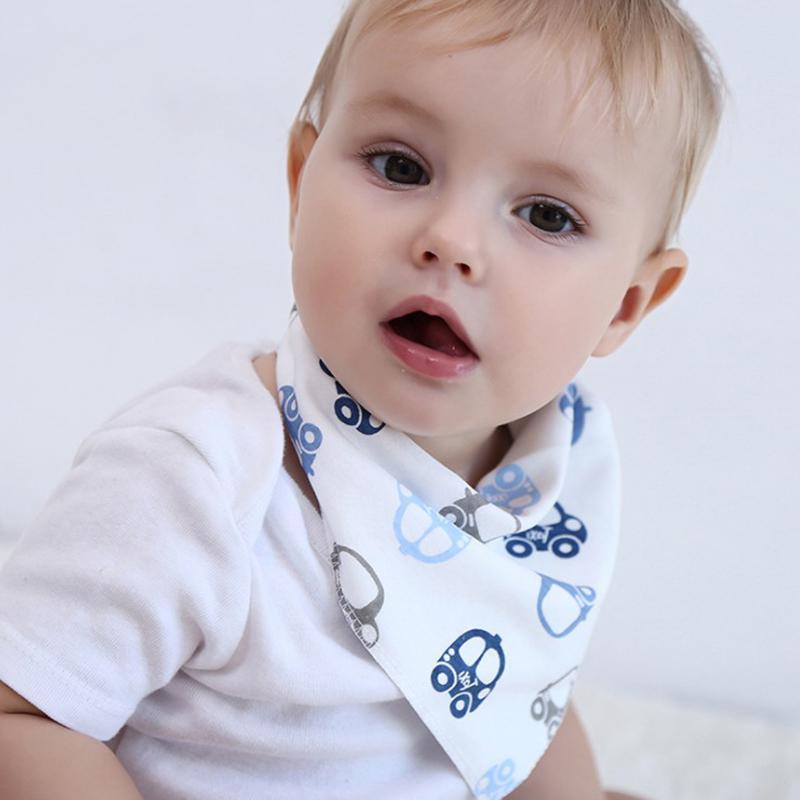 4PCS Baby Infant Boy Girl Bandana Bibs Feeding Saliva Towel Dribble Triangle Bib