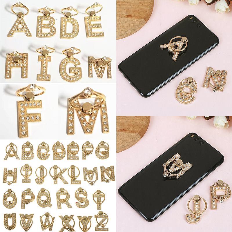 Моды металла письмо телефон держателя палец кольца роскошь, которую мобильный смартфон стенд стойки
