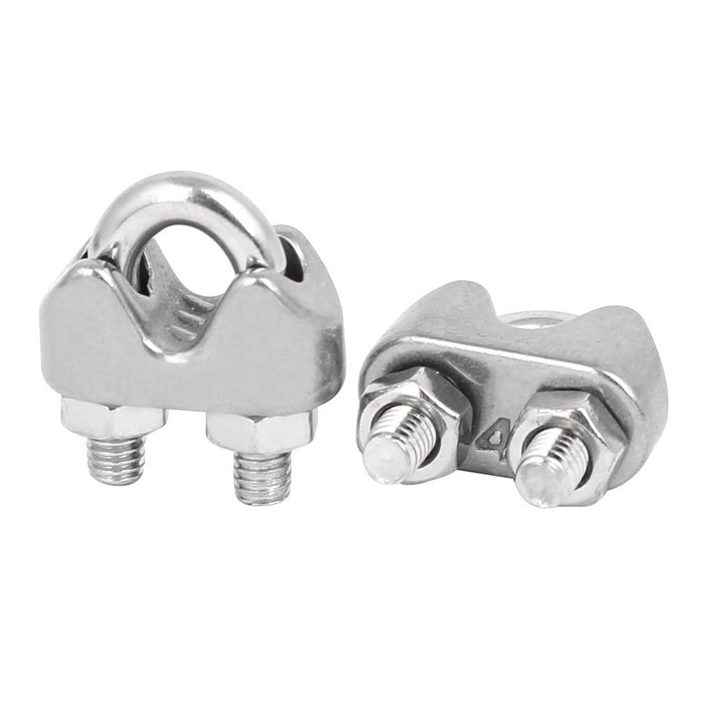 10pcs Clamp Buckle Cable Connector Stainless Steel Wire Rope Clip 304 Stianless Steel M3 Wire Rope Double Clips