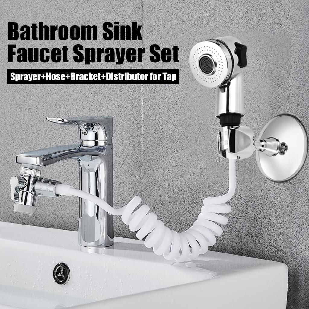 Hand Shower Faucet Nozzle Bathroom Supplies Quick Connect Sink Hose Sprayer  Set For Hair Washing Pet Bath Toilet Flushing