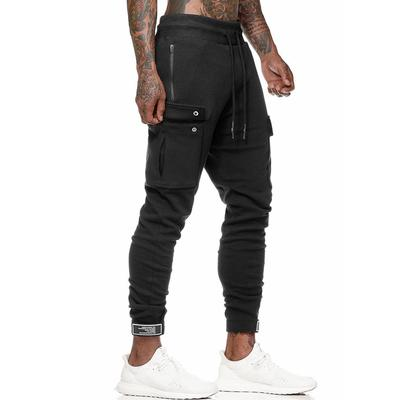 Mens Fashion Slim Fit Personality Stretchy Casual Printed Jeans Denim Pants Sweatpants Spring Summer Fitness Relaxed fit Pants for Boys Black