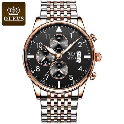 OLEVS Top Original Men's Watch Fashion Waterproof Watch For Men Multifunctional Chronograph Sports  Digital Watch Luminous