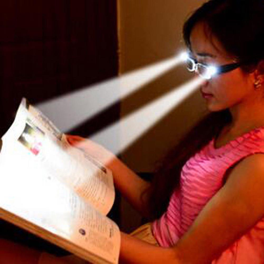 2018新款厂家直供带灯老花镜LED照明验钞磁疗夜视眼镜老人太阳镜