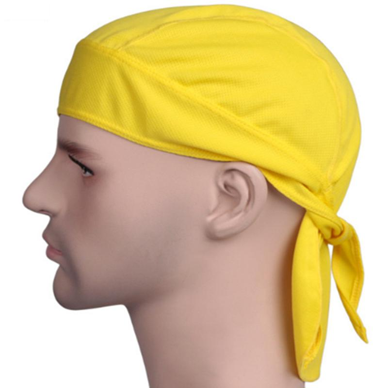 Fitted Solid Tied BACK BANDANA DOO RAG Do Du Motorcycle Skull Cap Hair Band Hat